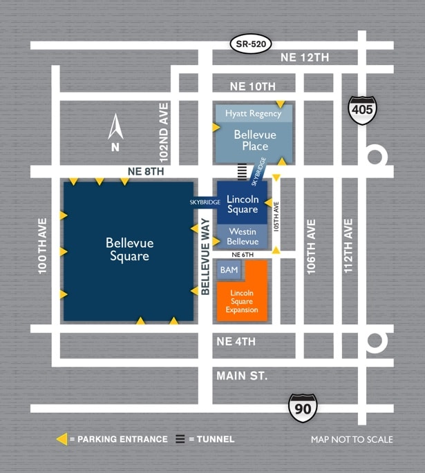 Bellevue Square Map Parking   The Bellevue Collection