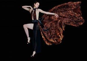 Model in Venturini Couture Gown