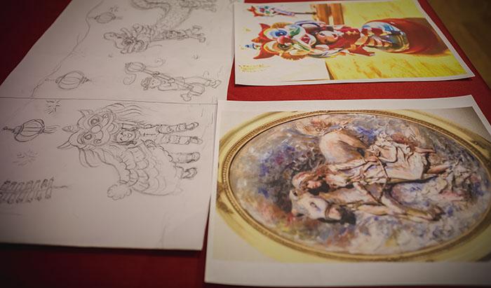 Clay Art Drawings