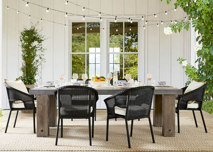 Pottery Barn Abbott Outdoor DIning Table and Chairs